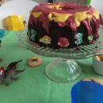 Vulkankuchen und Dinokekse